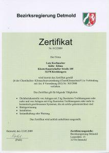 Mitglied der Innung für Kälte- und Klimatechnik Ostwestfalen-Lippe